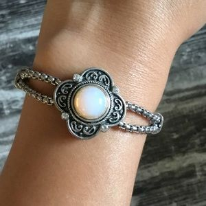 Brighton Bracelet With Opal Stone Sliver